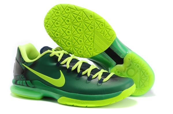 Nike Zoom Kevin Durant\u0027s KD V Elite Low Basketball shoes Blackish Green