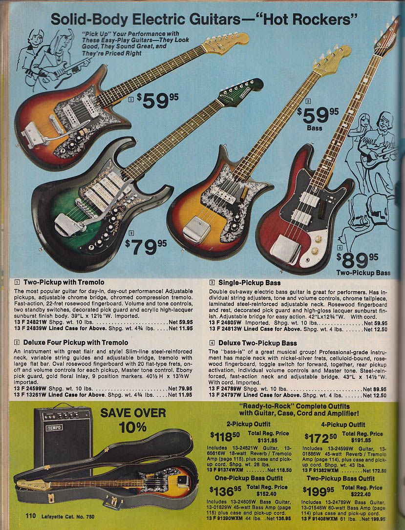 Lafayette Electronics Catalog 750 1975 Cb Science Kits Guitars