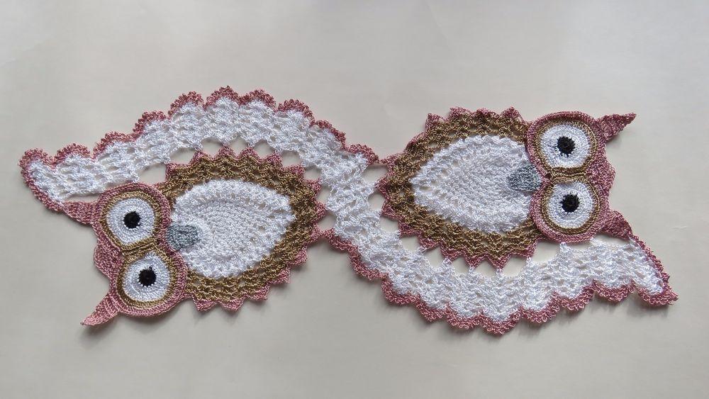 Eulen Tischläufer Handmade Deckchen Pinterest