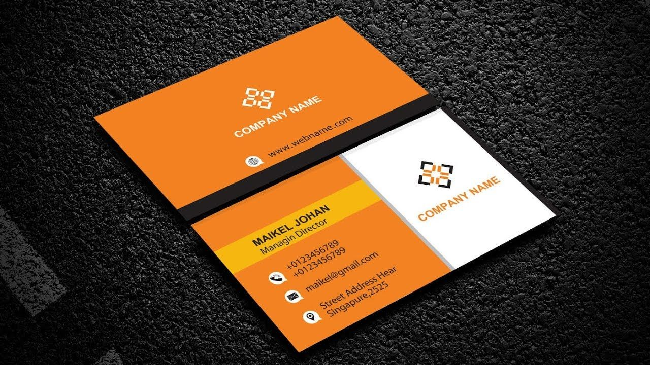 Wide Business Cards Design In Adobe Illustrator Cc Business Cards Creative Make Business Cards Business Card Design