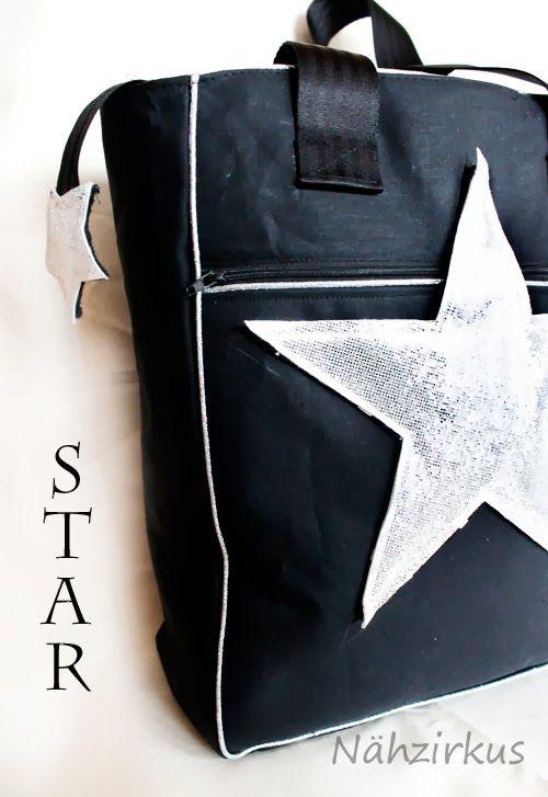 lillesol & pelle Schnittmuster/ pattern: Schultertasche Star ...