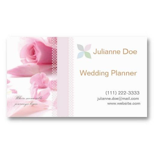 Sold wedding planner personal card business card templates wedding planner personal card business card templates weddingplanner businesscard pink wajeb Choice Image