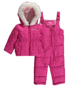 "6fba77383 Weatherproof Baby Girls' ""Stitched Stars"" 2-Piece Snowsuit - CookiesKids.com"