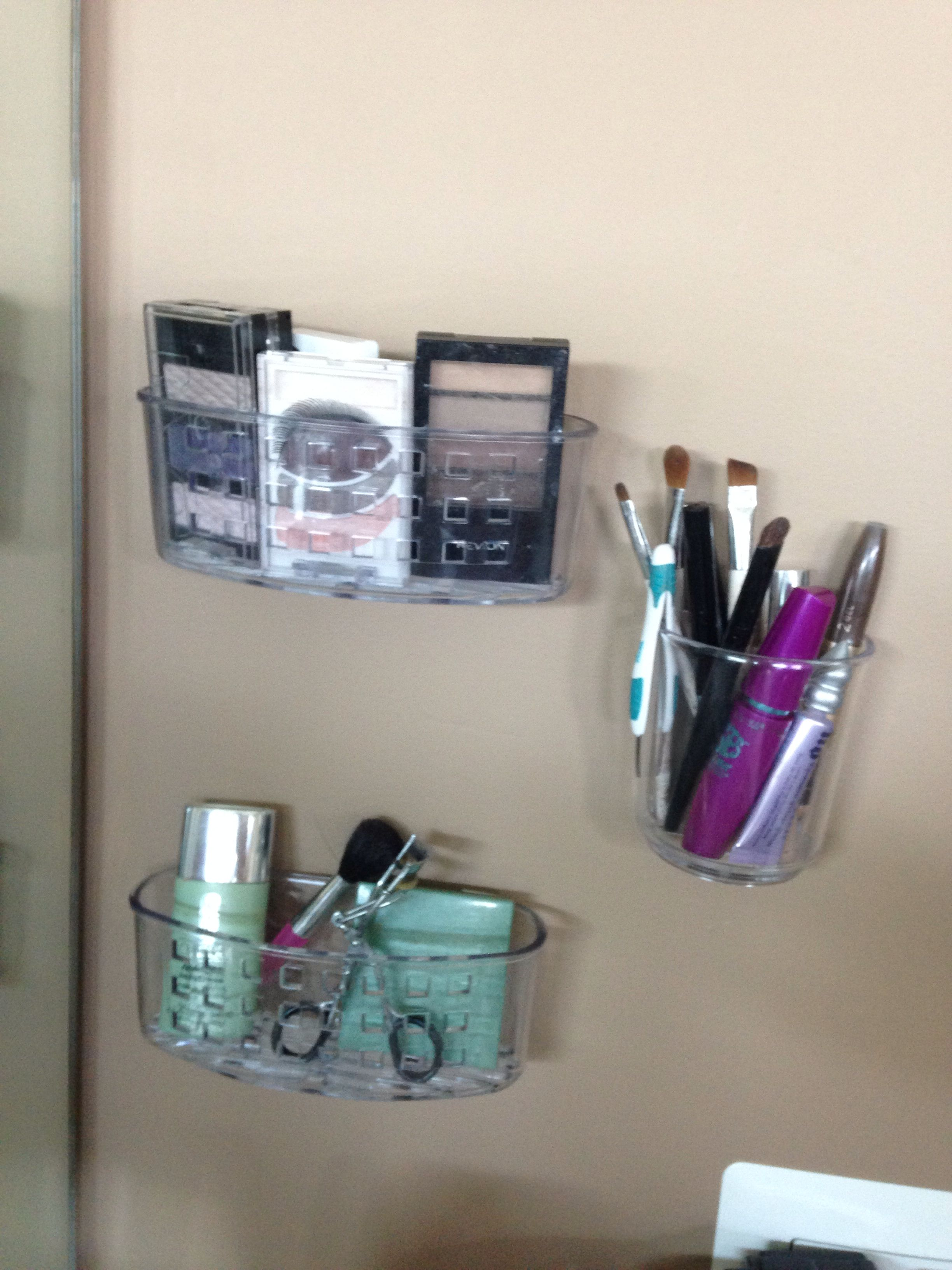 3m Command Strips On Shower Caddy To Hold Makeup Make Up