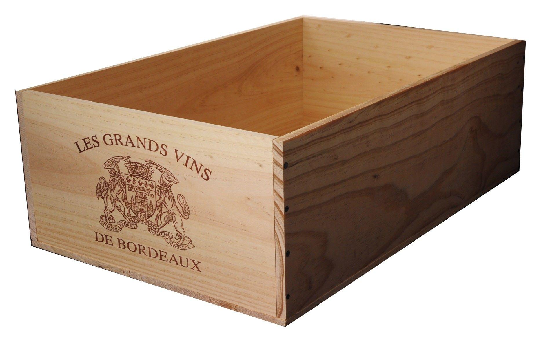 Achat La Caisse Bois 12x75cl Estampille Grands Vins De Bordeaux Odyssee Vins Caisse Bois Vin Bordeaux Caisse Bois Vin