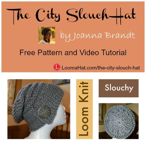 The City Slouch Hat Free Pattern and Video Tutorial | Stricken ...