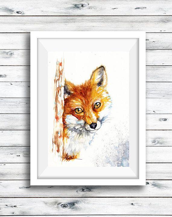Fox Wall Art Home Decor Nursery
