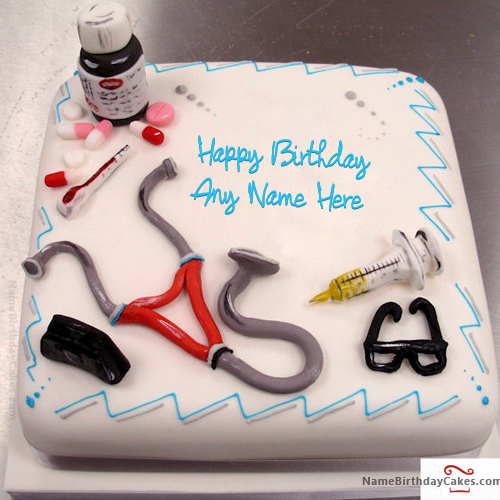 Birthday Cakes With Name Hbd Cake Pinterest Doctor Birthday