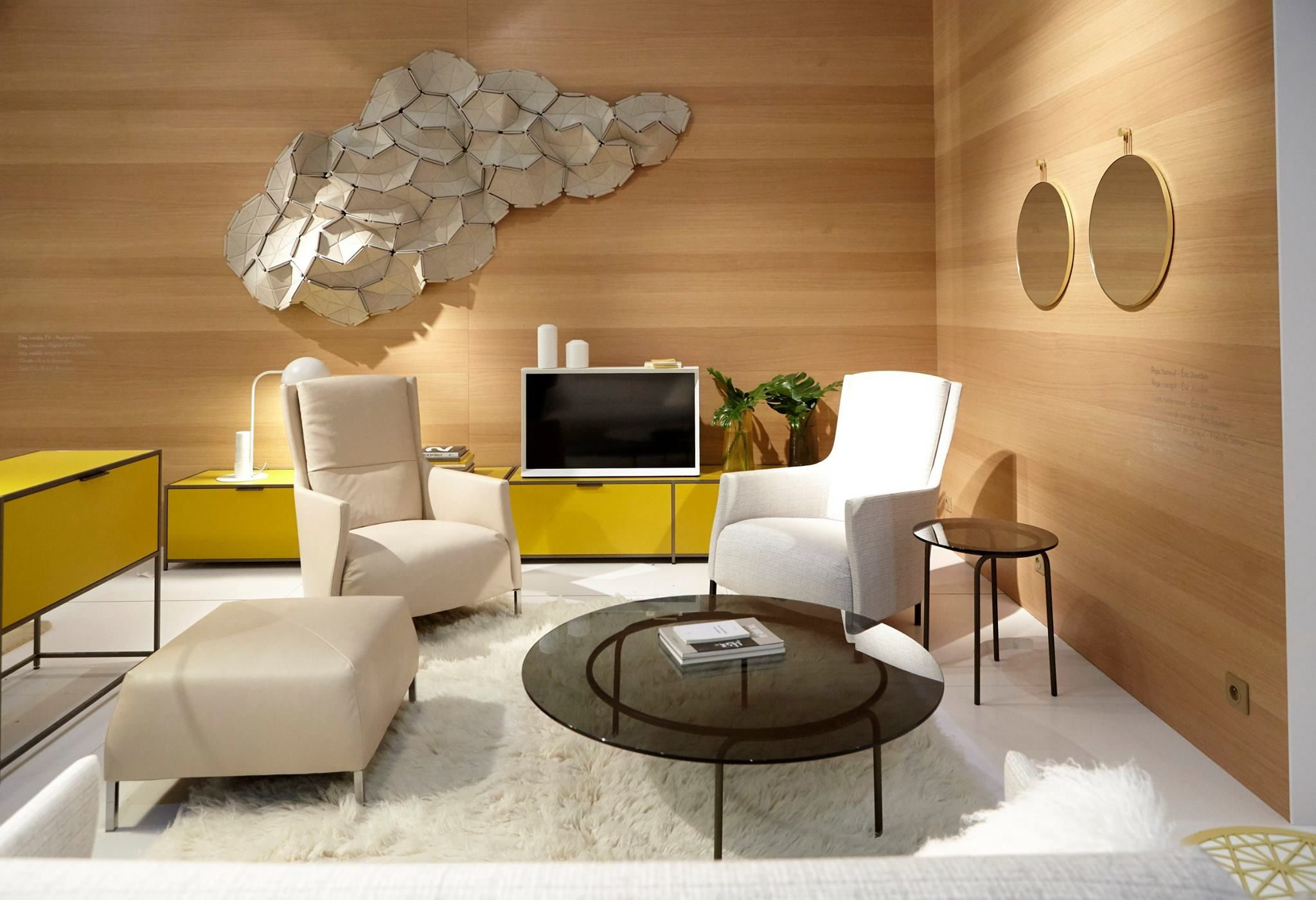 Ligne roset at maison s booth from the maison objet furniture fair in paris france