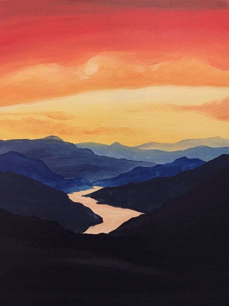 Pick A Painting For Your Next Private Paint Party Muse Paintbar Sunset Canvas Painting Canvas Art Painting Simple Canvas Paintings