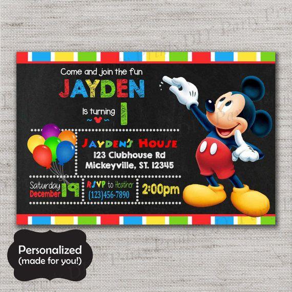 Mickey Mouse invitation,Mickey Mouse,Mickey Mouse invite,Printed invites,Mickey invite,Mickey,MLM74
