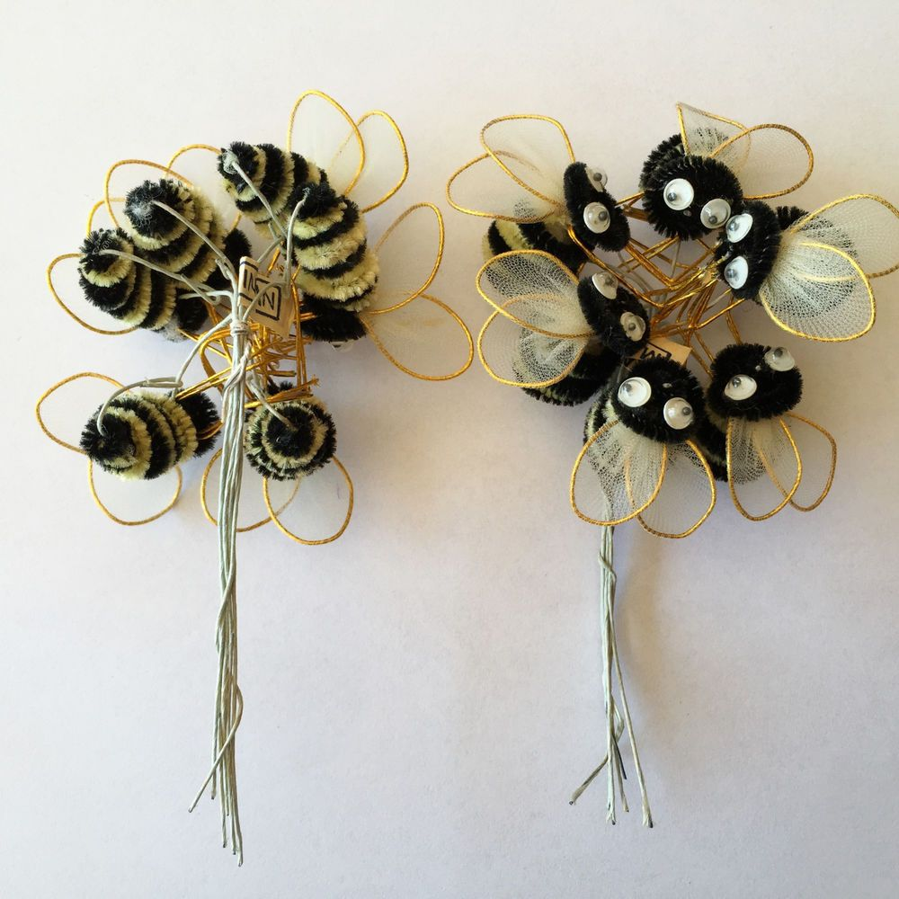 Chenille Bumble Bee Wire Wiring Diagrams How To Flexwatt Heat Tape In Parallel Popscreen 12 Vintage Bees W Googly Eyes Crafts Floral Rh Pinterest Com