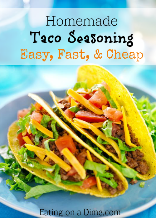 This delicious Homemade Taco Seasoning recipe is so easy to make. You will save a ton of money by making your own. Try out this Homemade Taco Seasoning.
