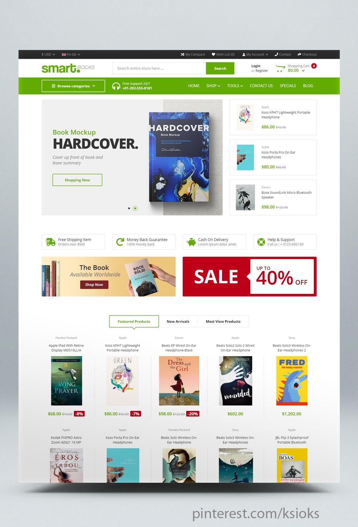 Book Opencart Theme Ecommerce Website Web Design Websites Ecommerce