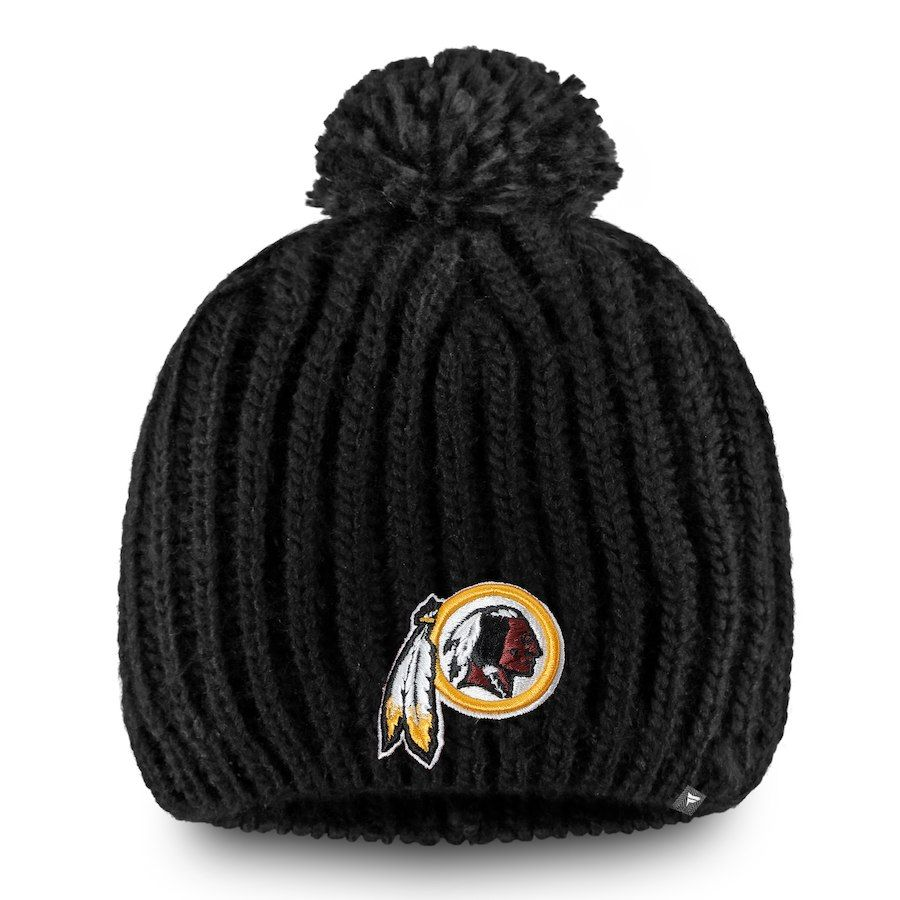wholesale dealer 65586 416cf Women s Washington Redskins NFL Pro Line by Fanatics Branded Black Iconic  Ace Knit Hat With Pom, Your Price   23.99