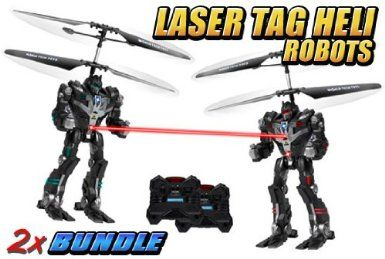 Amazon.com: RoboCombat GYRO Laser Tag Battle Electric RTF RC Heli 2-Pack Bundle: Toys & Games