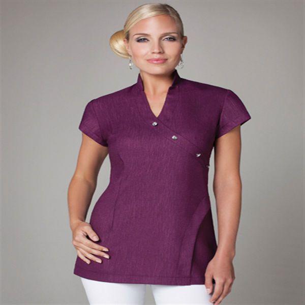 Newest 100 cotton spa uniform for women 76 95 for Spa uniform cotton