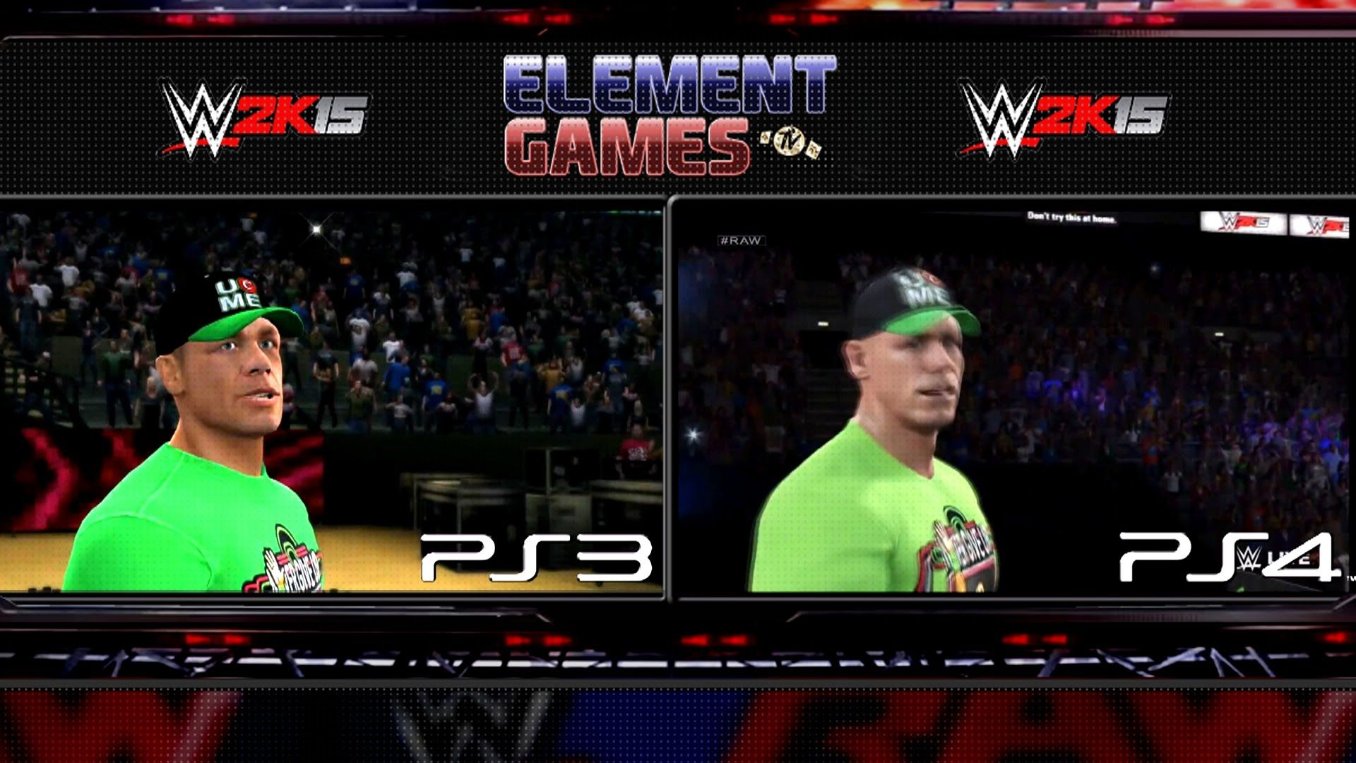 WWE 2K15 John Cena Entrance PS4 Vs PS3 Comparison Ps4 Ps3 Graphic