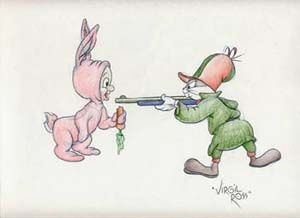 Bugs Bunny and Elmer Fudd by Virgil Ross