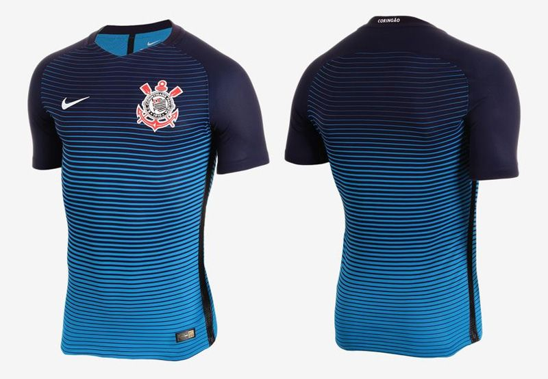 Terceira camisa do Corinthians 2016-2017 Nike Azul kit c64428989ef17