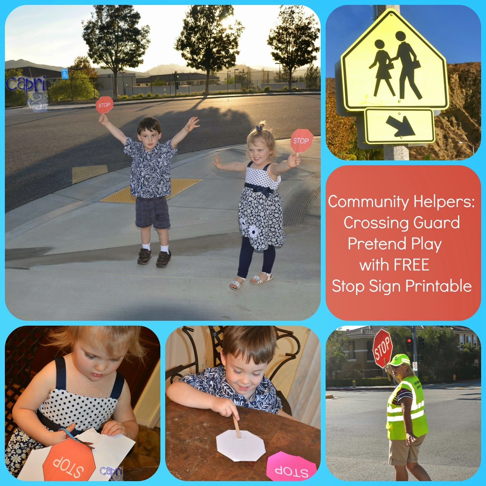 Crossing Guard Pretend Play And Learning Activities With