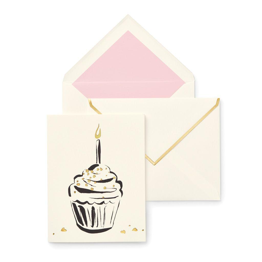 Kate Spade New York Individual Greeting Card Happy Birthday Cupcake Happy Birthday Cupcakes Birthday Cupcakes Kate Spade Stationery