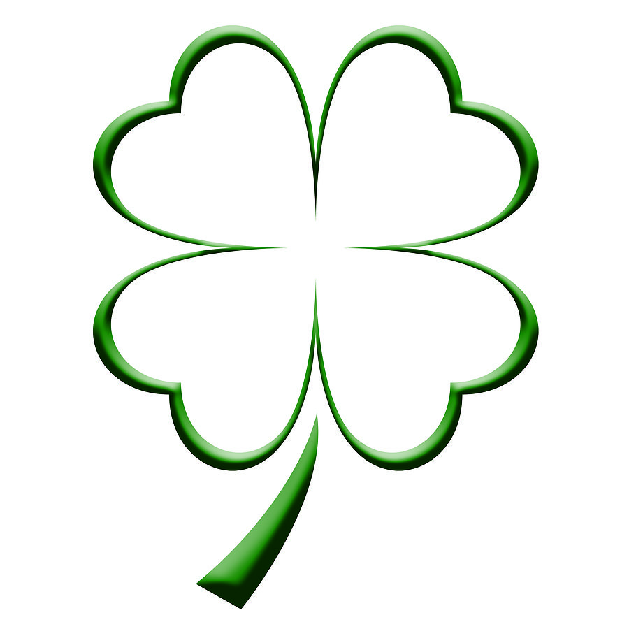 Coloring pages 4 leaf clover - Four Leaf Clover Coloring Page Clipart Best