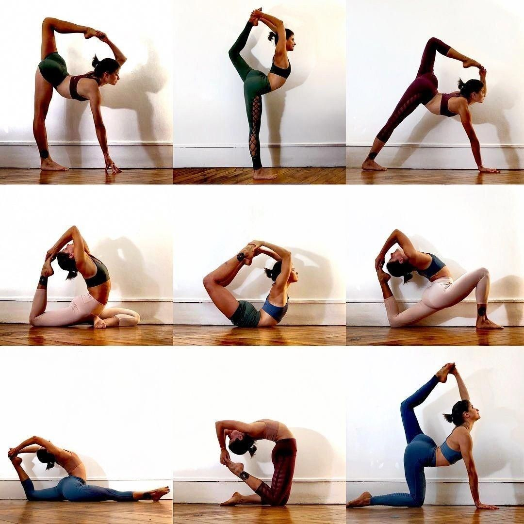 At home yoga fitness in 2020 | Yoga poses advanced ...