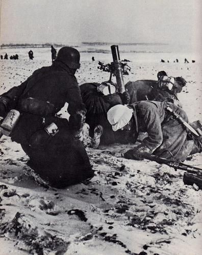 A German mortar team supporting a counter attack