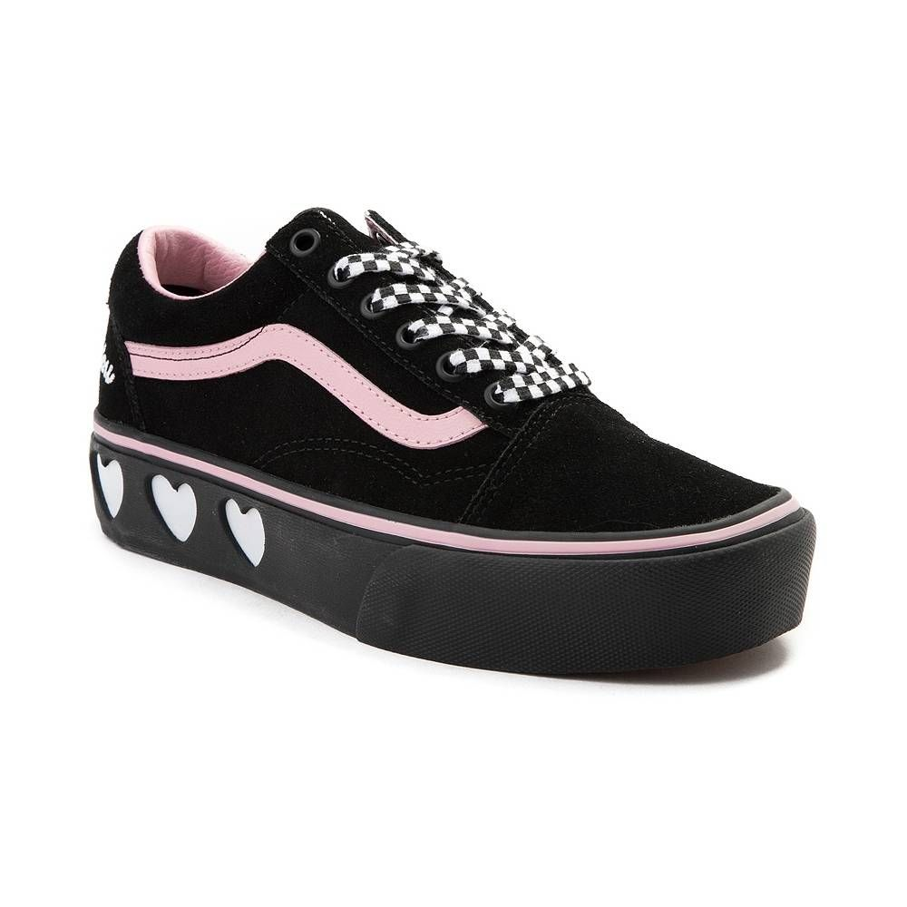 79cd6ef3fa28 Vans Old Skool Lazy Oaf Platform Skate Shoe - Black - 497237