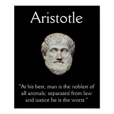 Aristotle - Law and Justice Quote Poster | Zazzle.com