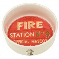 Fire Station Dog Official Mascot Ceramic Pet Bowl_D