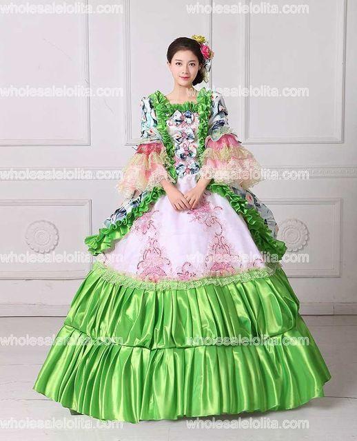 43a9cd4a3025 Aliexpress.com : Buy HOT!! Royal Green Floral Printed Marie ...