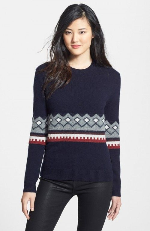 Burberry Brit Wool Cashmere Crewneck Sweater Military Navy X ...