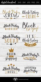 Black Friday Bundle Svg, Black Friday Shopping Svg files for Cricut, Black Frida…