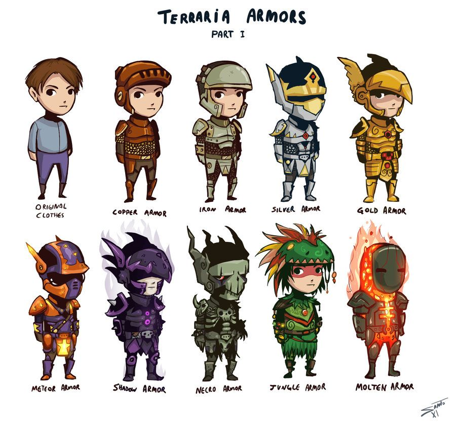 Terraria! I'm still at the Gold Armor stage tho!