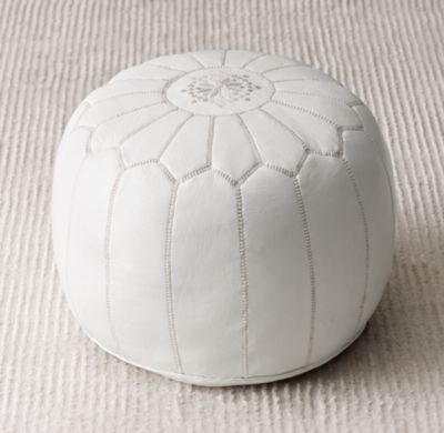 moroccan leather pouf ottomans u0026 poufs restoration hardware baby u0026 child wish list - Leather Pouf
