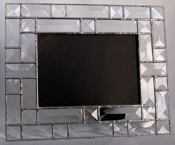 Clear beveled glass picture frame 5x7 - wedding gift