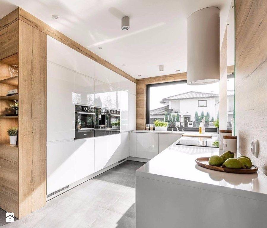 Znalezione Obrazy Dla Zapytania Kuchnia Z Oknem Naroznym Kitchen Room Design Kitchen Inspiration Design Modern Kitchen Design