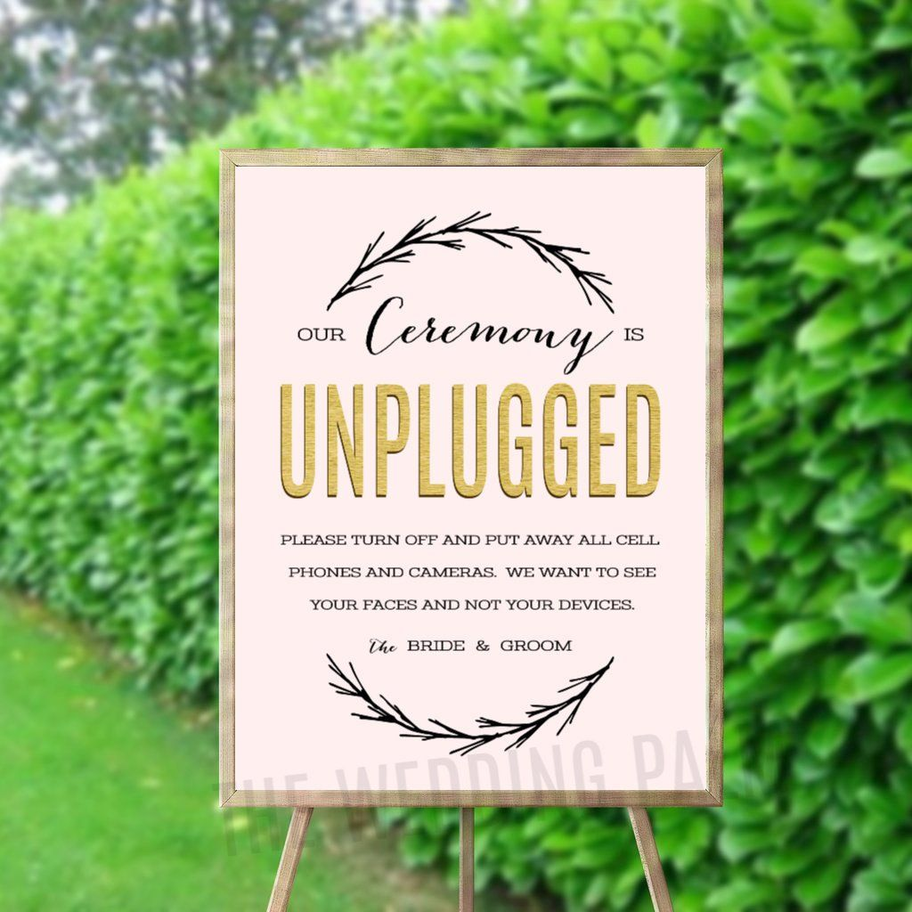 Unplugged Ceremony Printable Digital Unplugged Sign