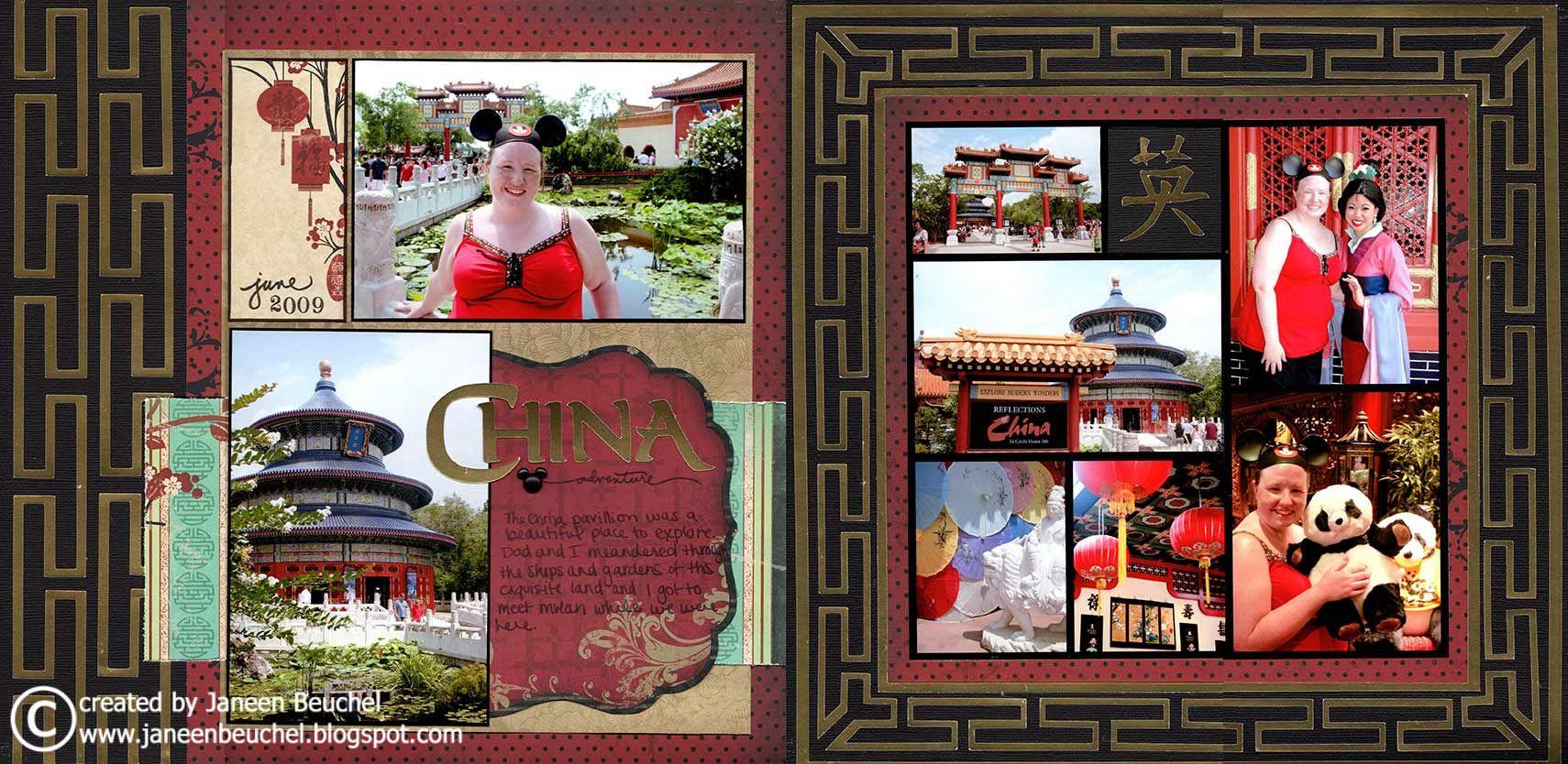 Scrapbook ideas china - China Adventure Bo Bunny Press Serenity Collection Http Www Scrapbook