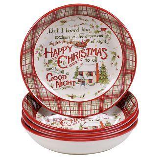 Certified International® The Night Before Christmas Pasta Bowl - Set ...