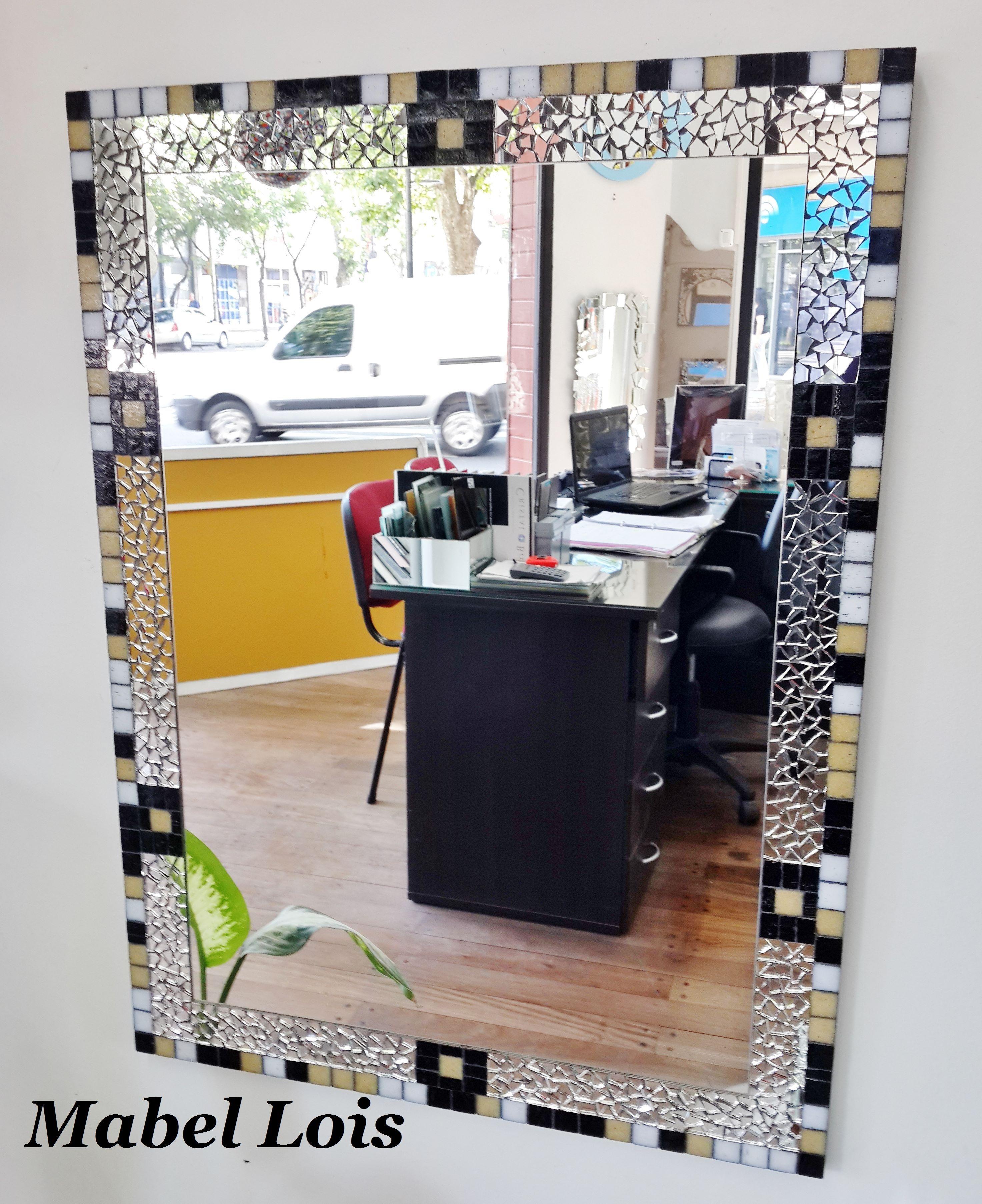 Espejo para ba o con venecitas mosaico espejos pinterest for Banos decorados con guardas de venecitas