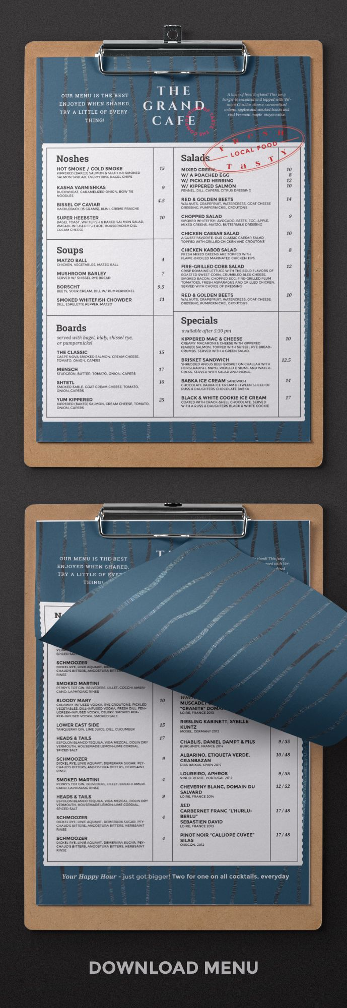 Restaurant Menu design. New elegant menu design good for your ...