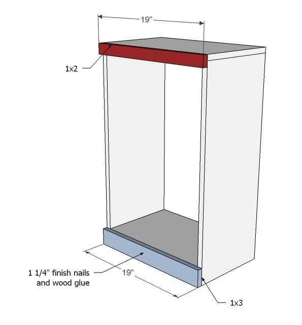 Ana White   Build a Wood Tilt Out Trash or Recycling Cabinet   Free ...