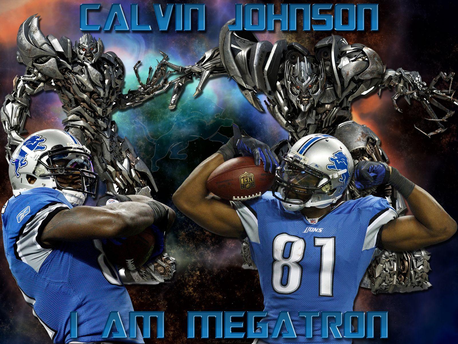 Calvin Johnson The Best Wr In The Nfl Calvin Johnson Detroit Lions Wallpaper Detroit Lions