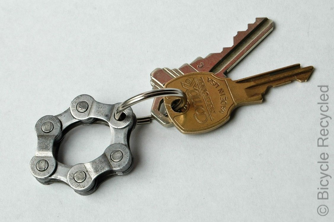 Bicycle Chain Key Ring By Bicyclerecycled On Etsy With Images