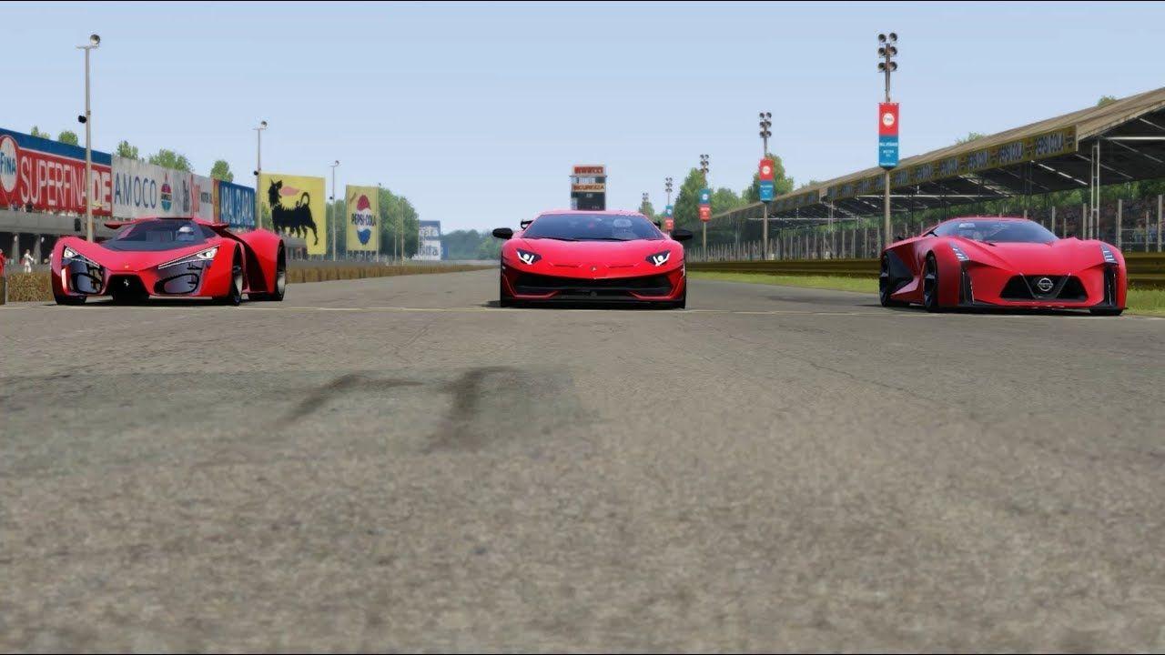 Ferrari F80 Concept vs Lamborghini Aventador SVJ vs Nissan Concept Vision GT