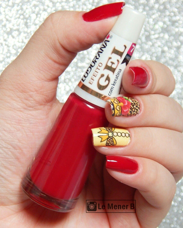 #nail #nails #nailart #unha #unhas #unhadecorada #peliculas #adesivo #AnimalPrint #vinho #vermelho #esmalte #polish #red #wine #redpolish #rednails #girl #fashion #manicure