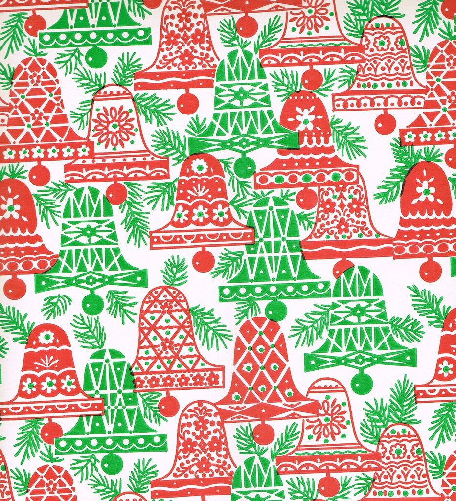 Vintage Christmas Gift Wrapping Paper A by TheGOOSEandTheHOUND ...